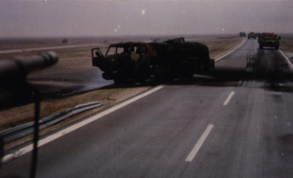 Destroyed truck near Basra, Iraq