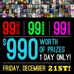 99 Authors. 99 Books. 99 cents. Friday December 21st Only.