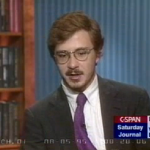 Uh oh–me on Washington Journal WAY BACK in 1995